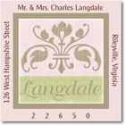 Name Doodles - Square Address Labels/Stickers (Arcadia Pink)
